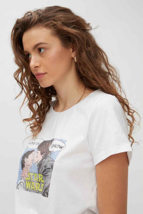 NOISY MAY T-shirts (korte mouwen) wit 27013599_BRIGHT WHITE ST img4