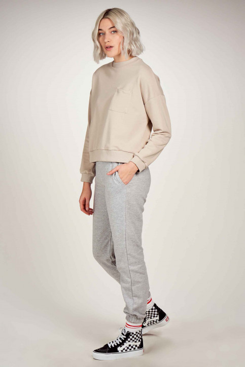 NOISY MAY Sweats col O gris 27016068_CHATEAU GREY img1