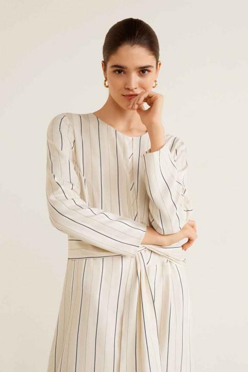 MANGO Robes 3/4 blanc 41040739_MNG_19_NATURAL WHITE img4