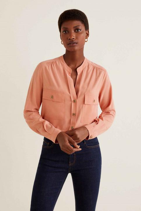 MANGO Hemden (lange mouwen) oranje 41055764_MNG_19_IT-PASTEL ORAN img1