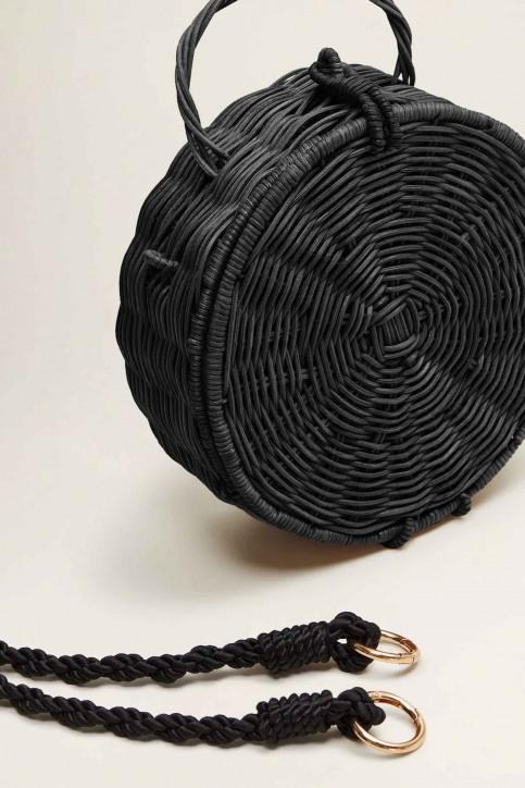 Mango Handtassen zwart 43065789_MNG_19_BLACK img4