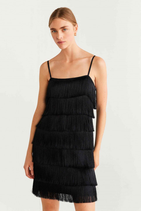 Mango Robes courtes noir 57075129_MNG_19_BLACK img1