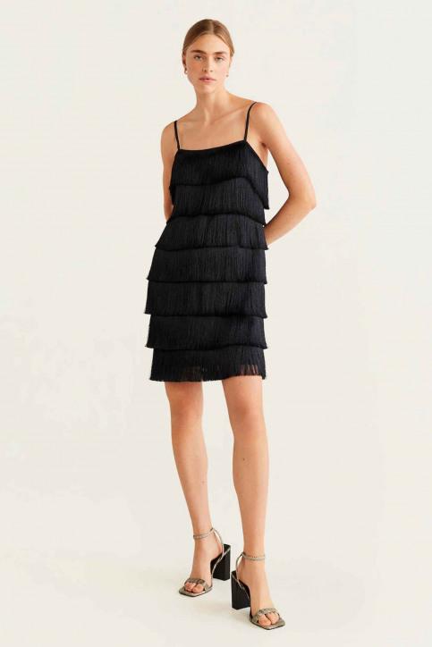Mango Robes courtes noir 57075129_MNG_19_BLACK img2