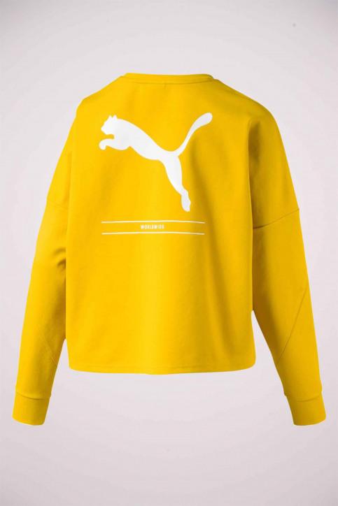 Puma Sweaters met ronde hals geel 5800860020_0020 SULPHUR img2
