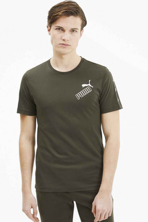 Puma T-shirts (manches courtes) vert 583510_0070 FOREST NIG img1