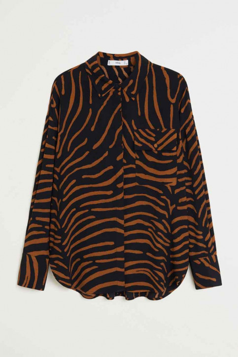 MANGO Hemden (lange mouwen) zwart 67064765_MNG_20_BLACK img4