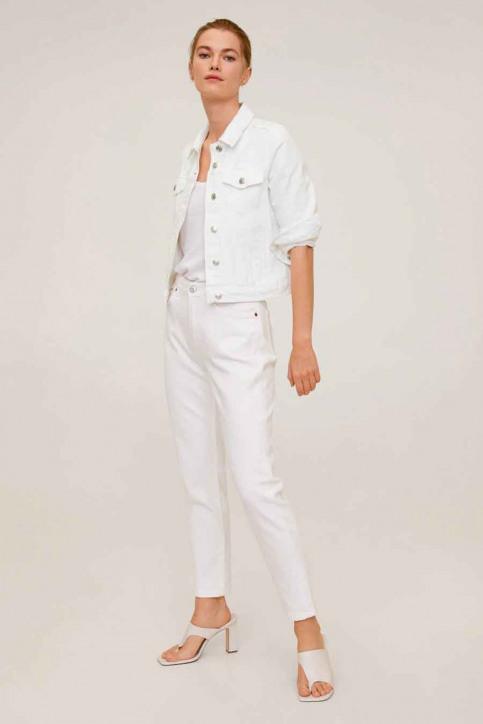 MANGO Vestes denim blanc 67076704_MNG_20_01 WHITE img2