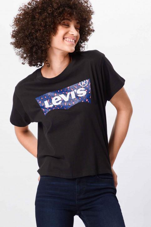 Levi's® T-shirts (manches courtes) noir 699730049_0049 LEOPARD ME img1