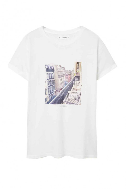 MANGO T-shirts (korte mouwen) beige 73065016_MNG_16_LIGHT BEIGE img1