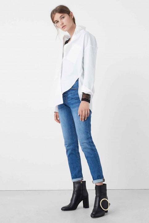 MANGO Jeans boyfriend bleu 73085568_MNG_16_OPEN BLUE img1
