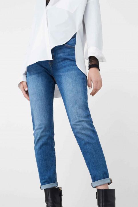 MANGO Jeans boyfriend bleu 73085568_MNG_16_OPEN BLUE img2