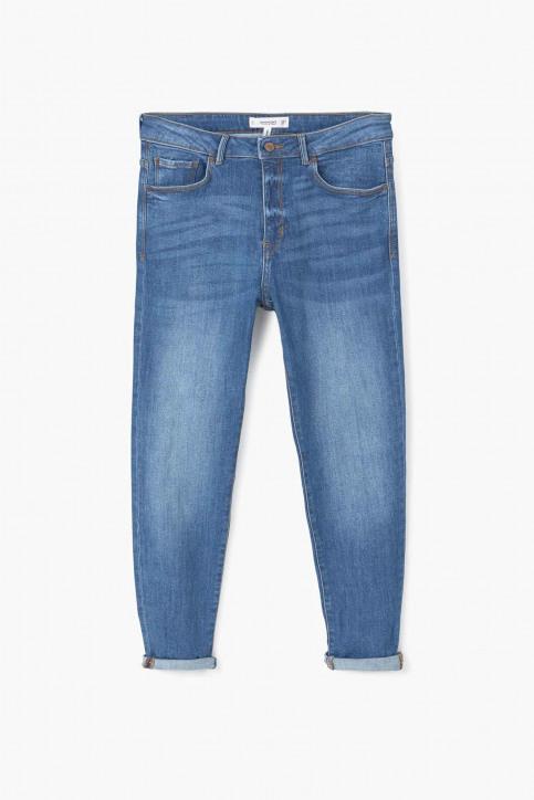 MANGO Jeans boyfriend bleu 73085568_MNG_16_OPEN BLUE img5