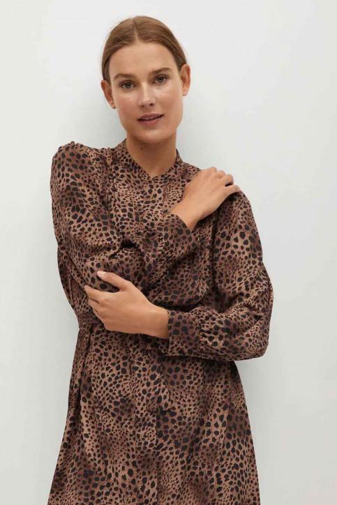 MANGO Robes courtes brun 77067621 MNG 20_BROWN img1