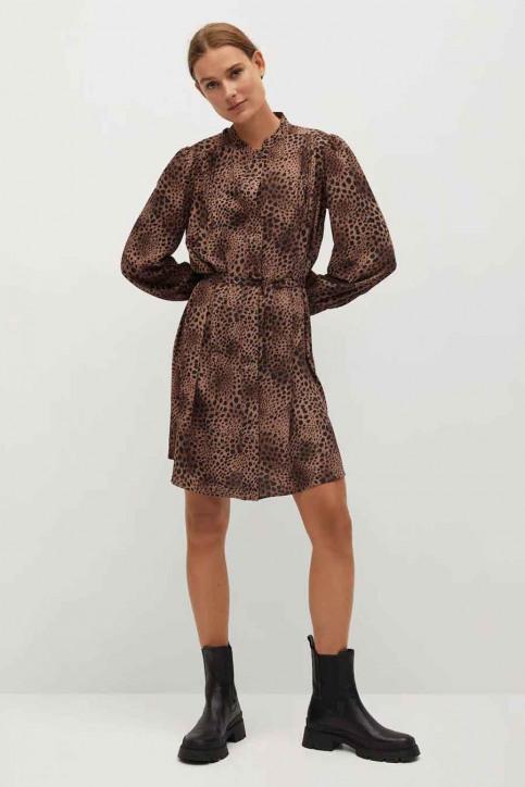 MANGO Robes courtes brun 77067621 MNG 20_BROWN img2