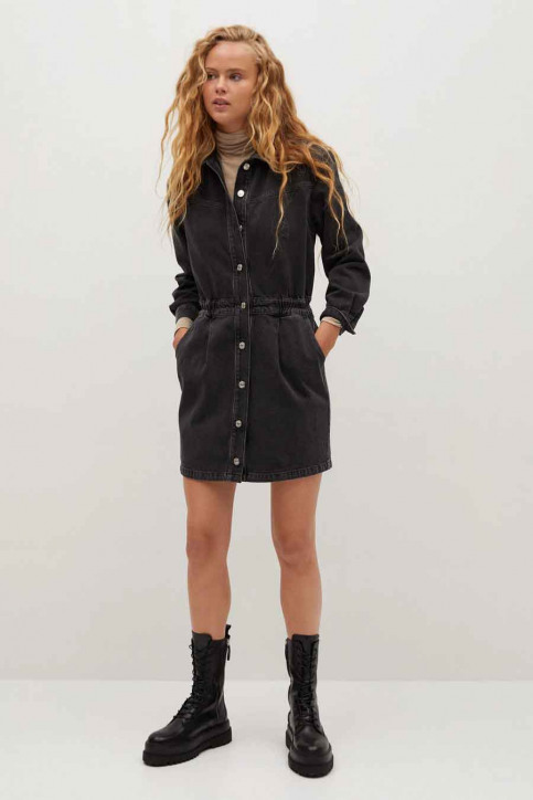 MANGO Robes courtes noir 77075955 MNG 20_TN OPEN GRAY img2