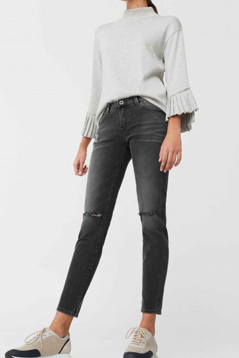 MANGO Jeans skinny gris 83003511_MNG_17_OPEN GREY img1