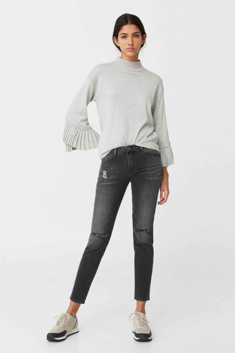 MANGO Jeans skinny gris 83003511_MNG_17_OPEN GREY img2