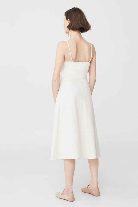 Mango Robes longues blanc 83067509_MNG_17_WHITE img2