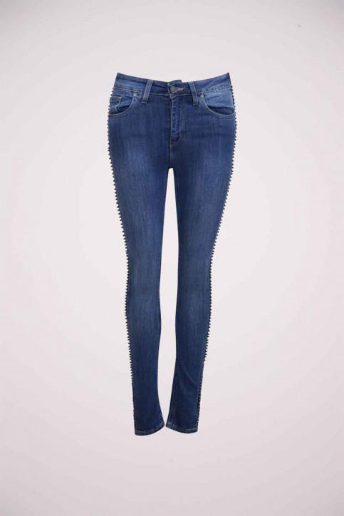 Astrid Black Label Jeans skinny bleu ABL184WT 005_BLUE img1