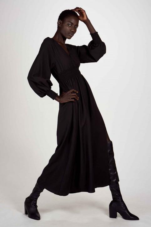 Astrid Black Label Jurken (lang) zwart ABL202WT 014_BLACK img1