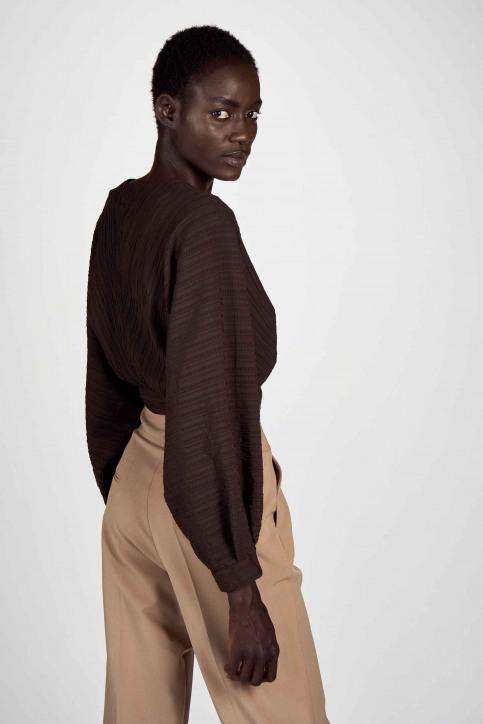 Astrid Black Label Chemisiers (manches longues) brun ABL202WT 016_GANACHE img3