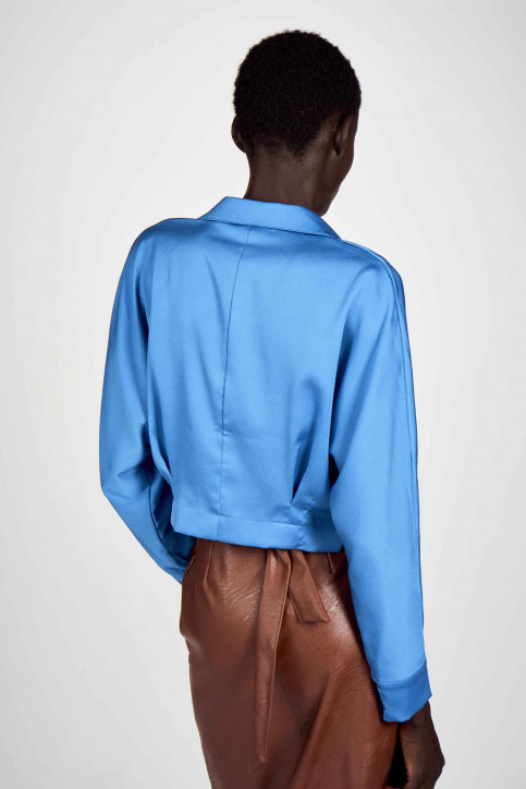 Astrid Black Label Blouses (lange mouwen) blauw ABL202WT 018_METHYL BLUE img3