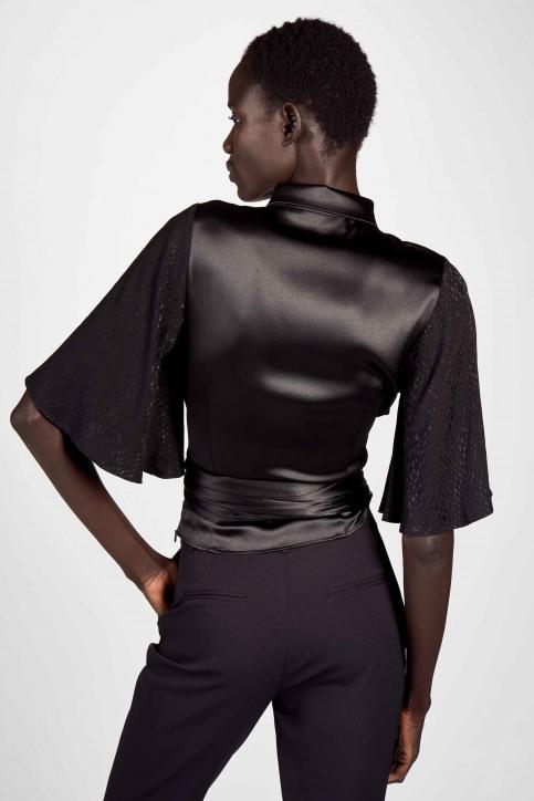 Astrid Black Label Blouses (korte mouwen) zwart ABL202WT 021_BLACK img3