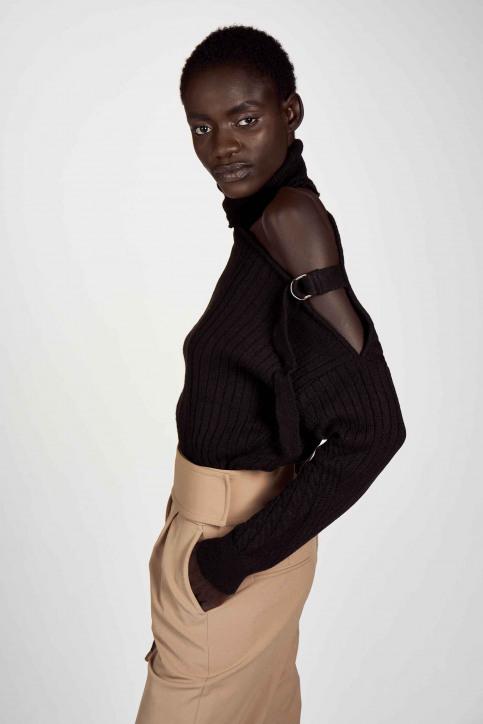 Astrid Black Label Truien met rolkraag zwart ABL202WT 030_BLACK img4