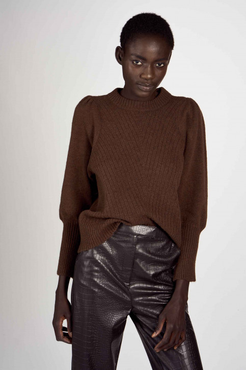 Astrid Black Label Pulls col roulé brun ABL202WT 033_GANACHE img1