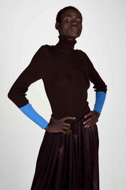 Astrid Black Label Pulls col roulé brun ABL204WT 013_GANACHE img1