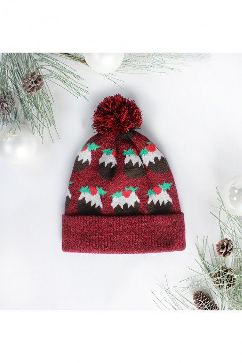 ZEB STYLE LAB Bonnets rouge ACC MUTS CAKE_RED img1