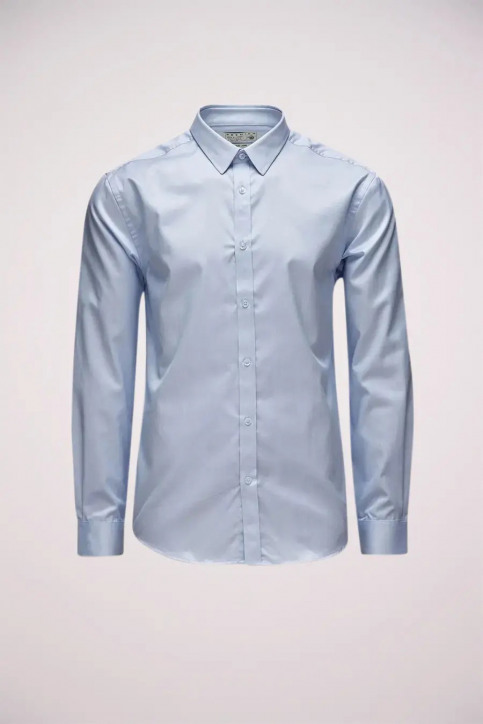 PREMIUM BY JACK & JONES Chemises (manches longues) bleu ANDREW SHIRT LS_SHIRT BLUE img3