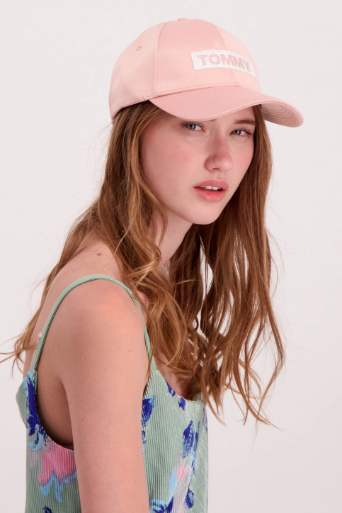 Tommy Jeans Petten roze AW0AW05468_646 MAHOGANY RO img1