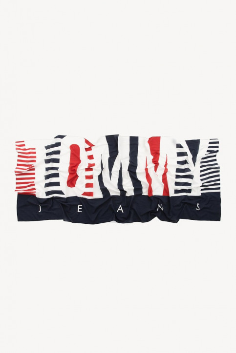 Tommy Jeans Zomersjaals blauw AW0AW06572_901 CORPORATE img2