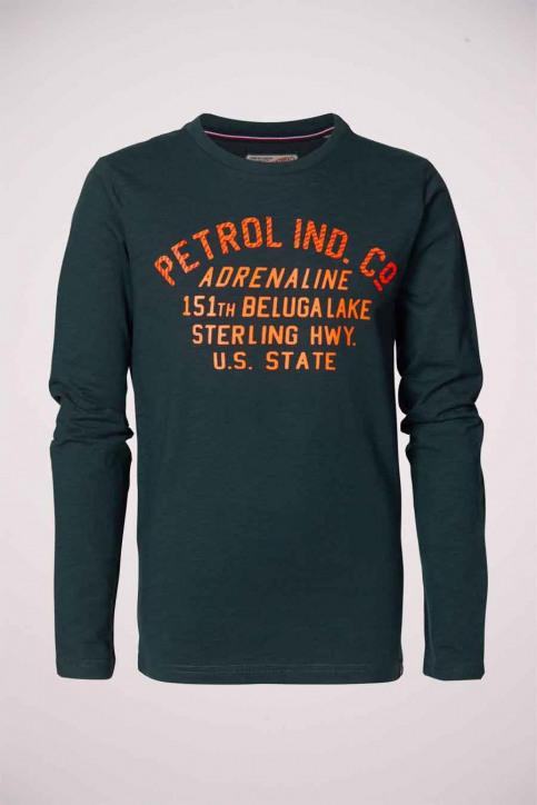 Petrol T-shirts met lange mouwen blauw B3000TLR606_6089 BOTTLE img1