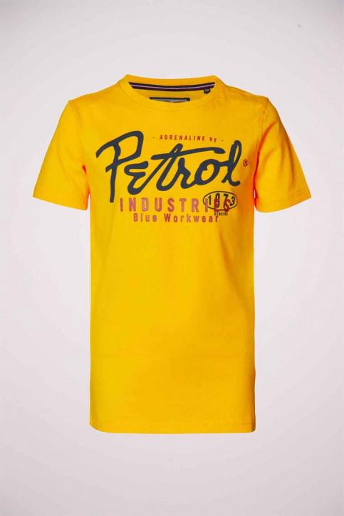Petrol T-shirts manches courtes jaune B3000TSR602_1034 AMBER img1