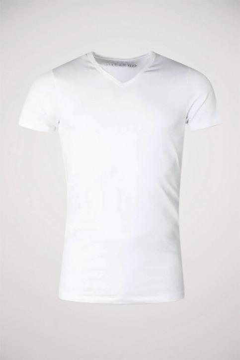 Bruce & Butler T-shirts (manches courtes) blanc BB LEANDER SS V 1P_WHITE img1