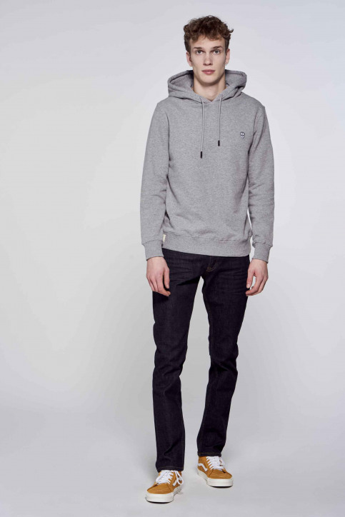 BLACK AND GOLD Sweaters met kap grijs BGMSW120HOOD_GREY MELANGE img1