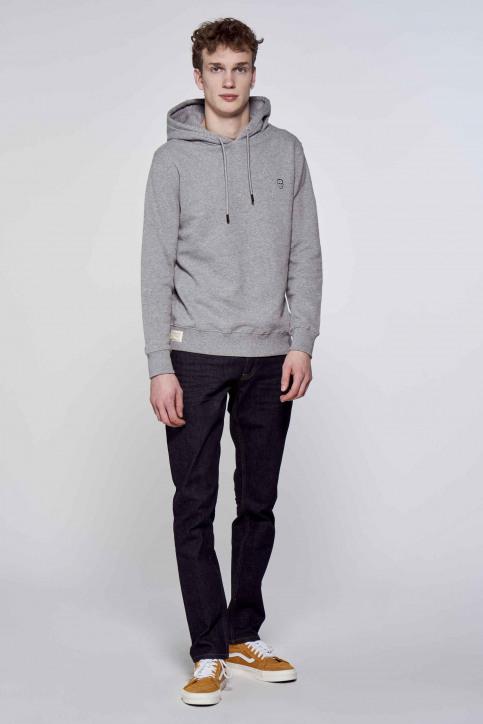 BLACK AND GOLD Sweaters met kap grijs BGMSW120HOOD_GREY MELANGE img2