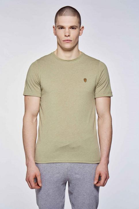 BLACK AND GOLD T-shirts (korte mouwen) groen BGMTS109_KHAKI MELANGE img1