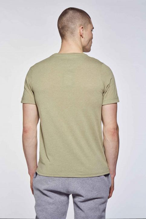 BLACK AND GOLD T-shirts (korte mouwen) groen BGMTS109_KHAKI MELANGE img2