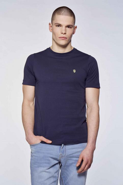 BLACK AND GOLD T-shirts (korte mouwen) blauw BGMTS109_NAVY img1