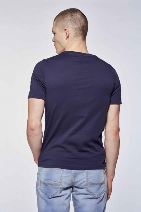 BLACK AND GOLD T-shirts (korte mouwen) blauw BGMTS109_NAVY img2