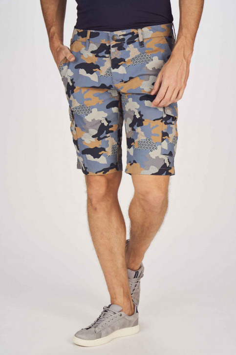 BRUCE & BUTLER Shorts multicolor BRB191MT 001_DARK SAND CAMEO img1