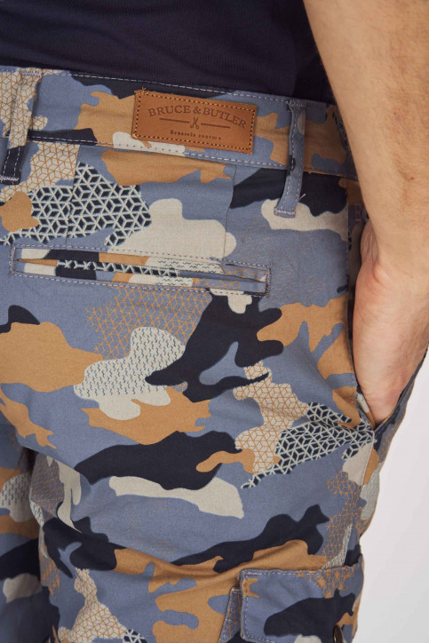 Bruce & Butler Shorts multicolor BRB191MT 001_DARK SAND CAMEO img5