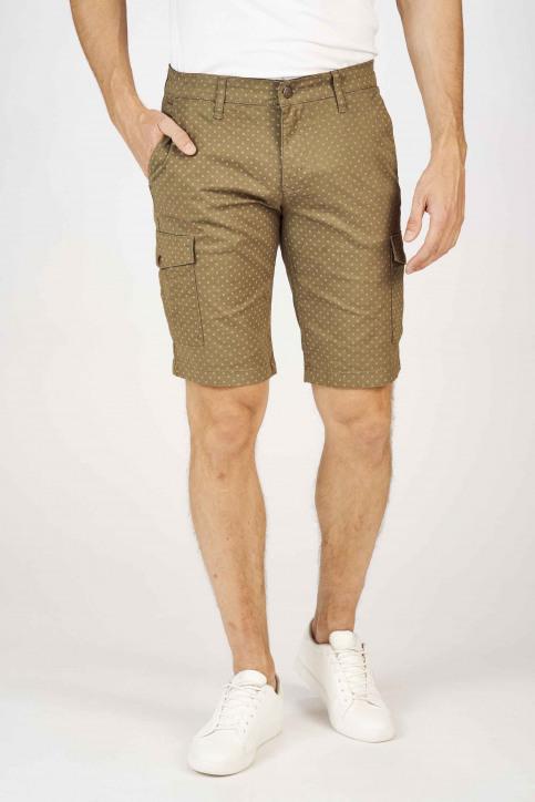 BRUCE & BUTLER Shorts groen BRB191MT 001_OLIVE CROSS PRI img1