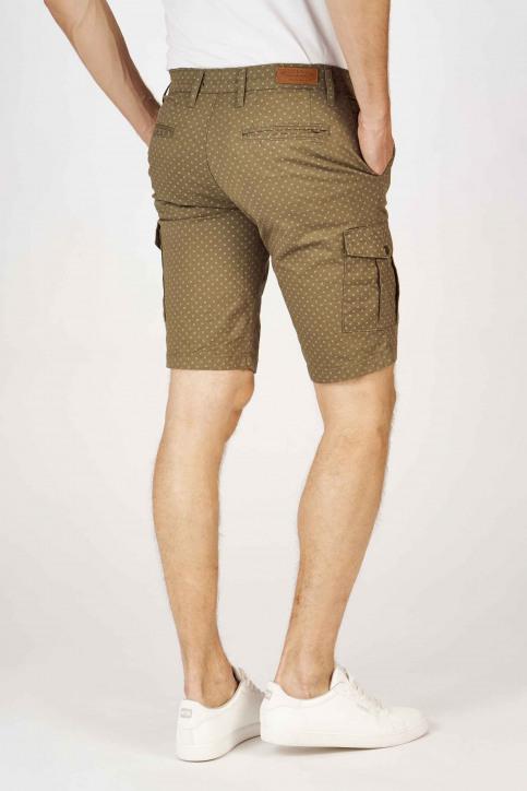 BRUCE & BUTLER Shorts groen BRB191MT 001_OLIVE CROSS PRI img3