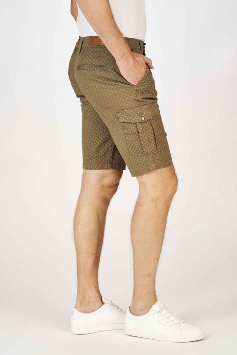 BRUCE & BUTLER Shorts groen BRB191MT 001_OLIVE CROSS PRI img4
