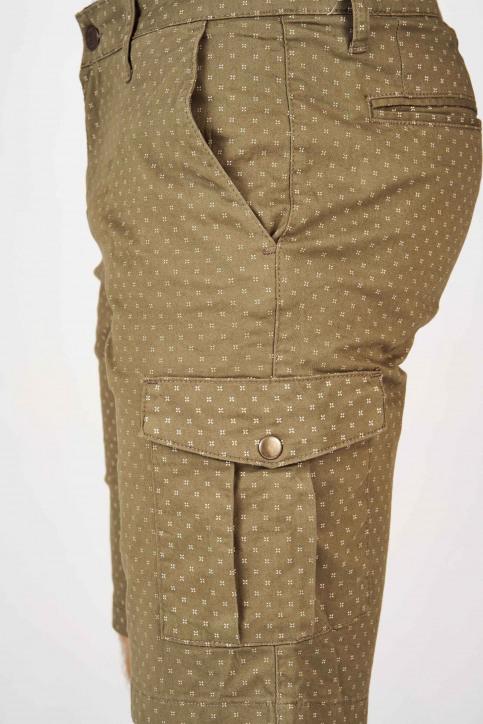 BRUCE & BUTLER Shorts groen BRB191MT 001_OLIVE CROSS PRI img5