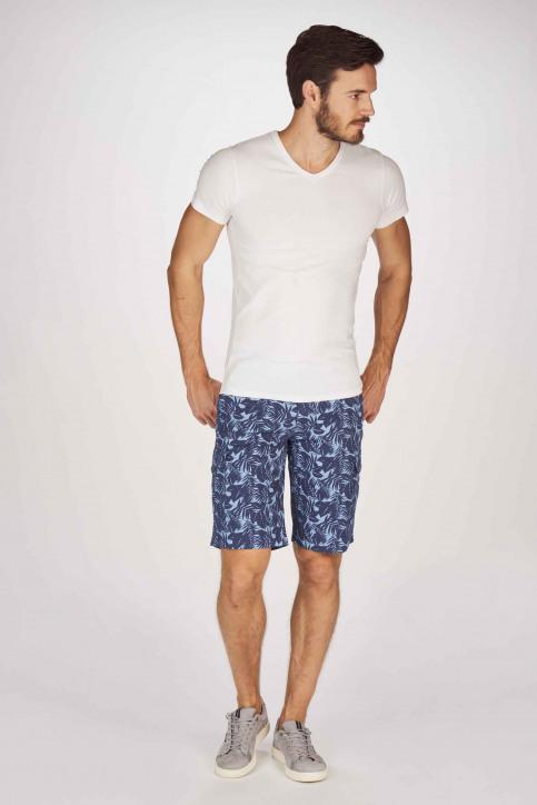 BRUCE & BUTLER Shorts bleu BRB191MT 002_SEA CAMEO LEAF img2